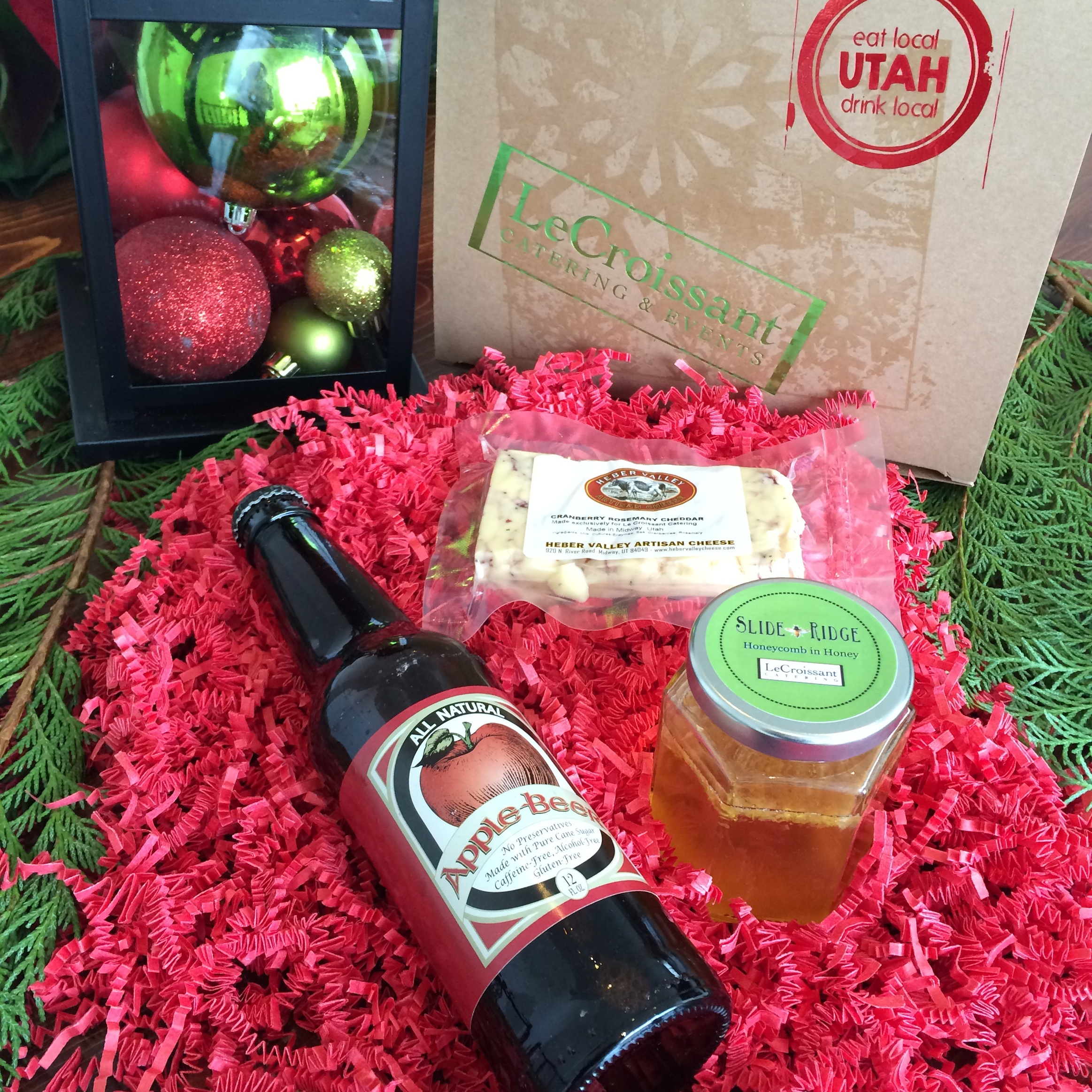 Local Utah artisans and farmers featured in our holiday gift from Lux Catering and Events.  LeCroissant Catering and Event's 2014 Holiday Gift LeCroissant Catering and Event's 2014 Holiday Gift 2014 12 17 11