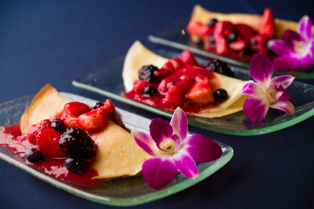 Our featured crepes, served with fresh fruit, in honor of National Crepe Day!