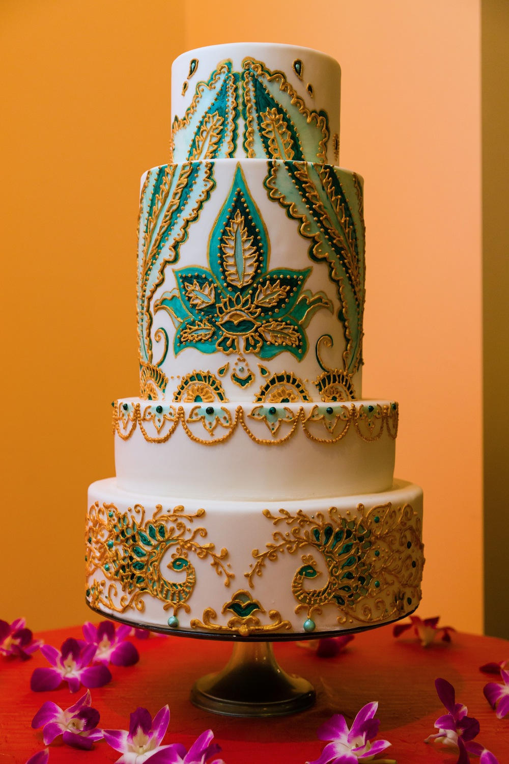 Indian inspired wedding cake with detailed henna designs created by wedding cake designer Kristen Cold Welcome our New In-House Wedding Cake Designer: Kristen Cold Welcome our New In-House Wedding Cake Designer: Kristen Cold 2013nov15 wedding djd0024