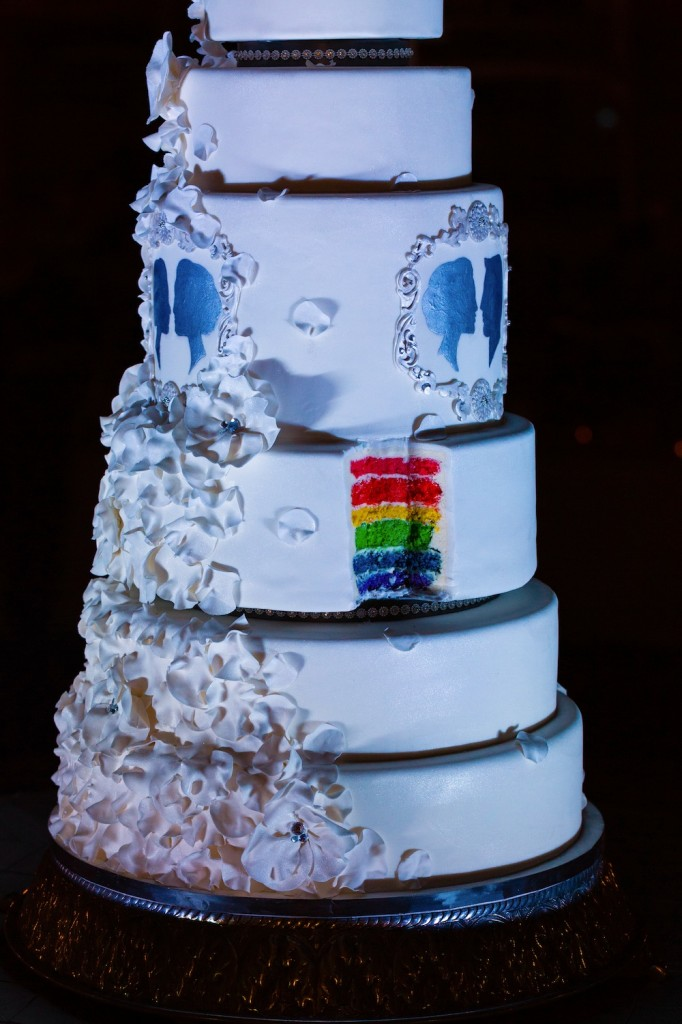 6 foot tall rainbow wedding cake by wedding cake designer Kristen Cold Welcome our New In-House Wedding Cake Designer: Kristen Cold Welcome our New In-House Wedding Cake Designer: Kristen Cold 2014jan11 reception djd4071