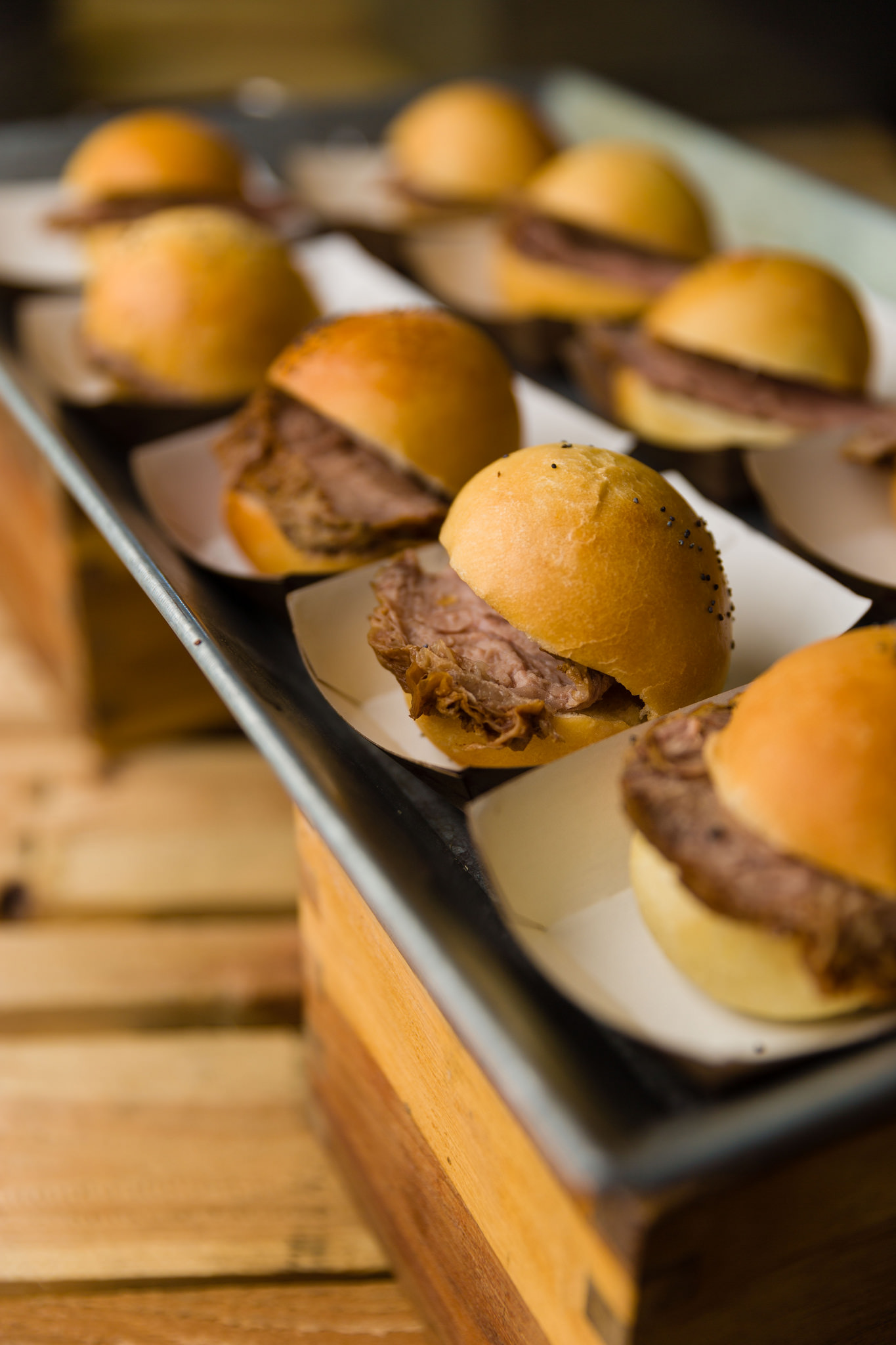 Tri-tip sliders to celebrate National Hamburger Day with Lux Catering and Events. How to Celebrate National Hamburger Day How to Celebrate National Hamburger Day 16390177975 8737b7f3e0 k