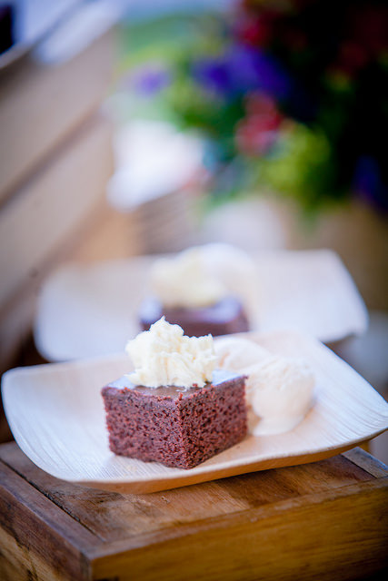 Texas fudge cake with fresh whipped cream and ice cream at a Utah corporate barbecue by Lux Catering and Events Utah Corporate Barbecues by Lux Catering and Events Utah Corporate Barbecues by Lux Catering and Events 15660826575 25ace286b3 z