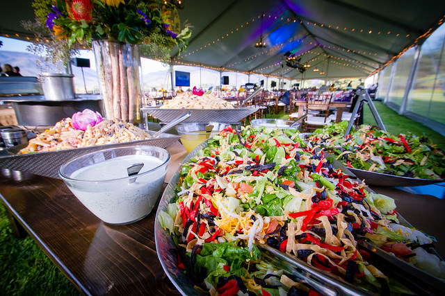 Salad and lighted tent for corporate barbecue event planned and catered by Lux Catering and Events Utah Corporate Barbecues by Lux Catering and Events Utah Corporate Barbecues by Lux Catering and Events 15661483692 69ede80655 z