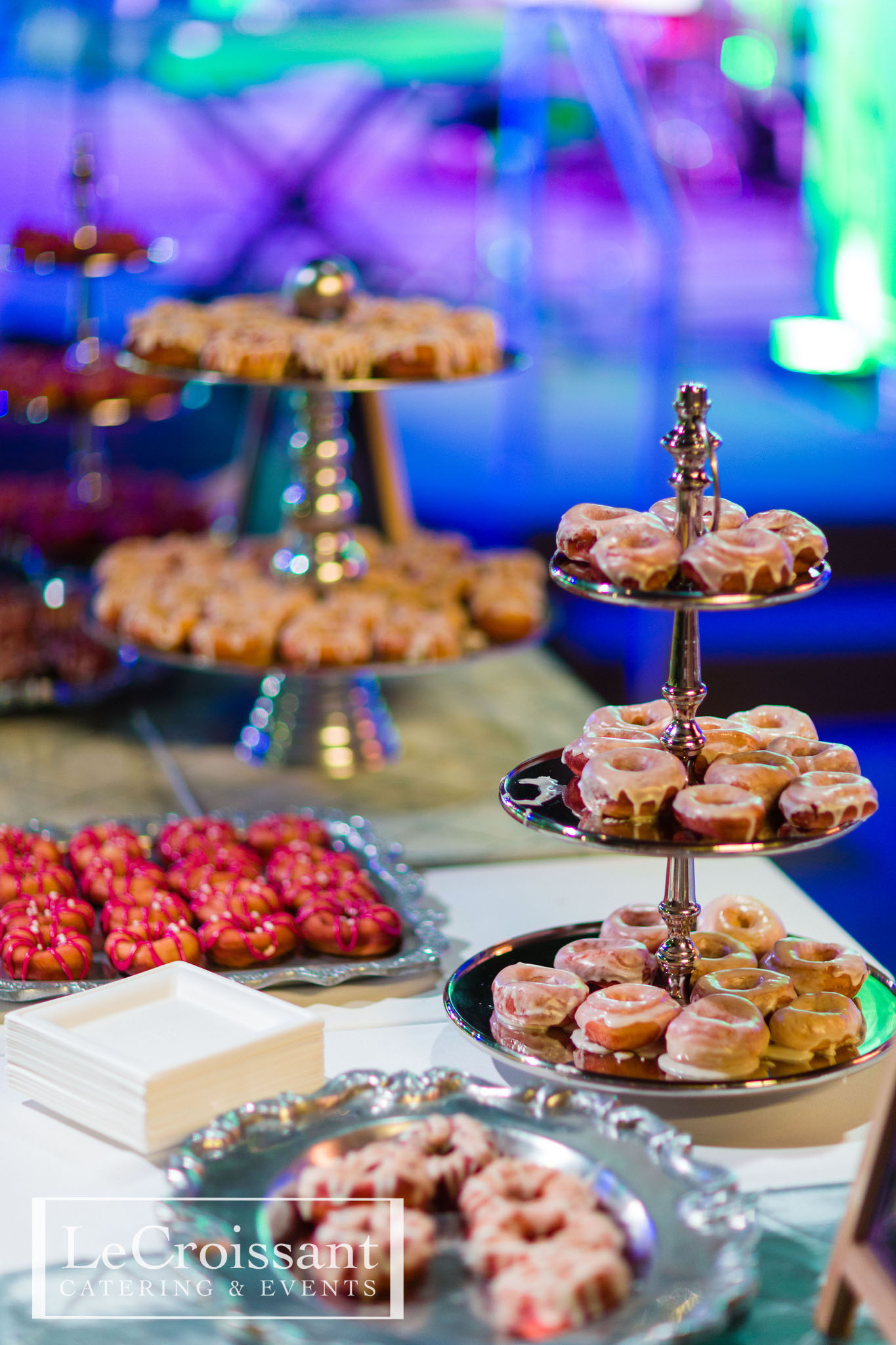 Delicious artisan donut action station by Lux Catering and Events.  National Donut Day National Donut Day 16156942867 ee8eaaab8f k