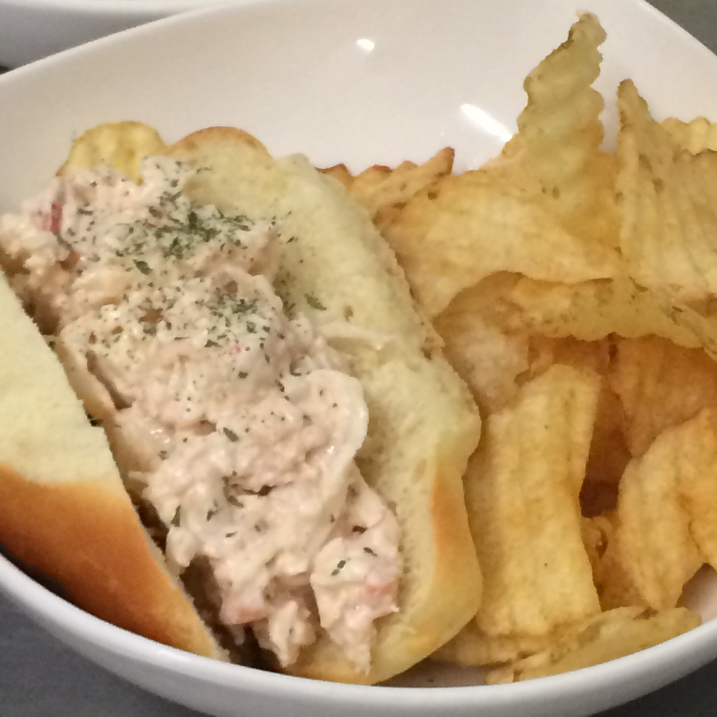 Mini lobster roll small plates served with gourmet kettle chips Gourmet Small Plates by LeCroissant Catering & Events Gourmet Small Plates by LeCroissant Catering & Events 2015 07 30 18