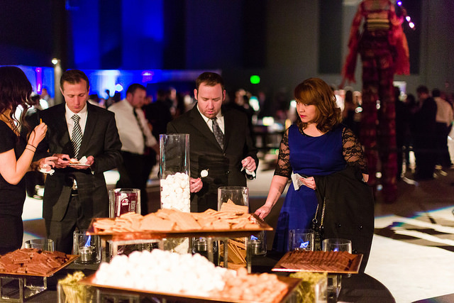 Guests get in on the action with our s'mores bar action station. By LeCroissant Catering & Events Celebrate National S'mores Day with a S'mores Bar! Celebrate National S'mores Day with a S'mores Bar! 14714467457 dfaa4ff401 z