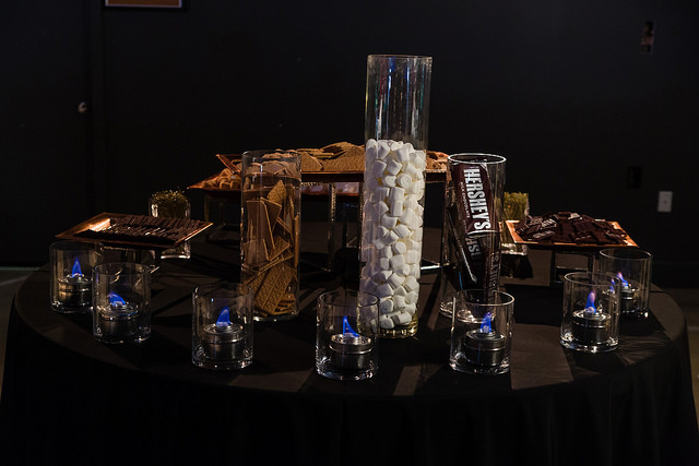 S'mores bar action station for your next event - by LeCroissant Catering & Events