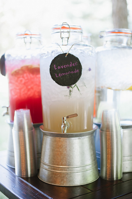 Lavender gourmet lemonade served at a wedding by LeCroissant Catering & Events Gourmet Lemonade for Lemonade Day! Gourmet Lemonade for Lemonade Day! 15959324094 cb2d38fd30 z
