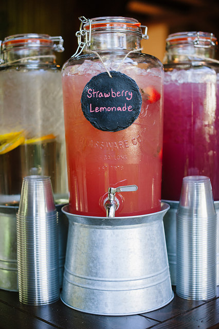 Strawberry gourmet lemonade served at a wedding by LeCroissant Catering & Events Gourmet Lemonade for Lemonade Day! Gourmet Lemonade for Lemonade Day! 16394238978 9c0f7e90a8 z