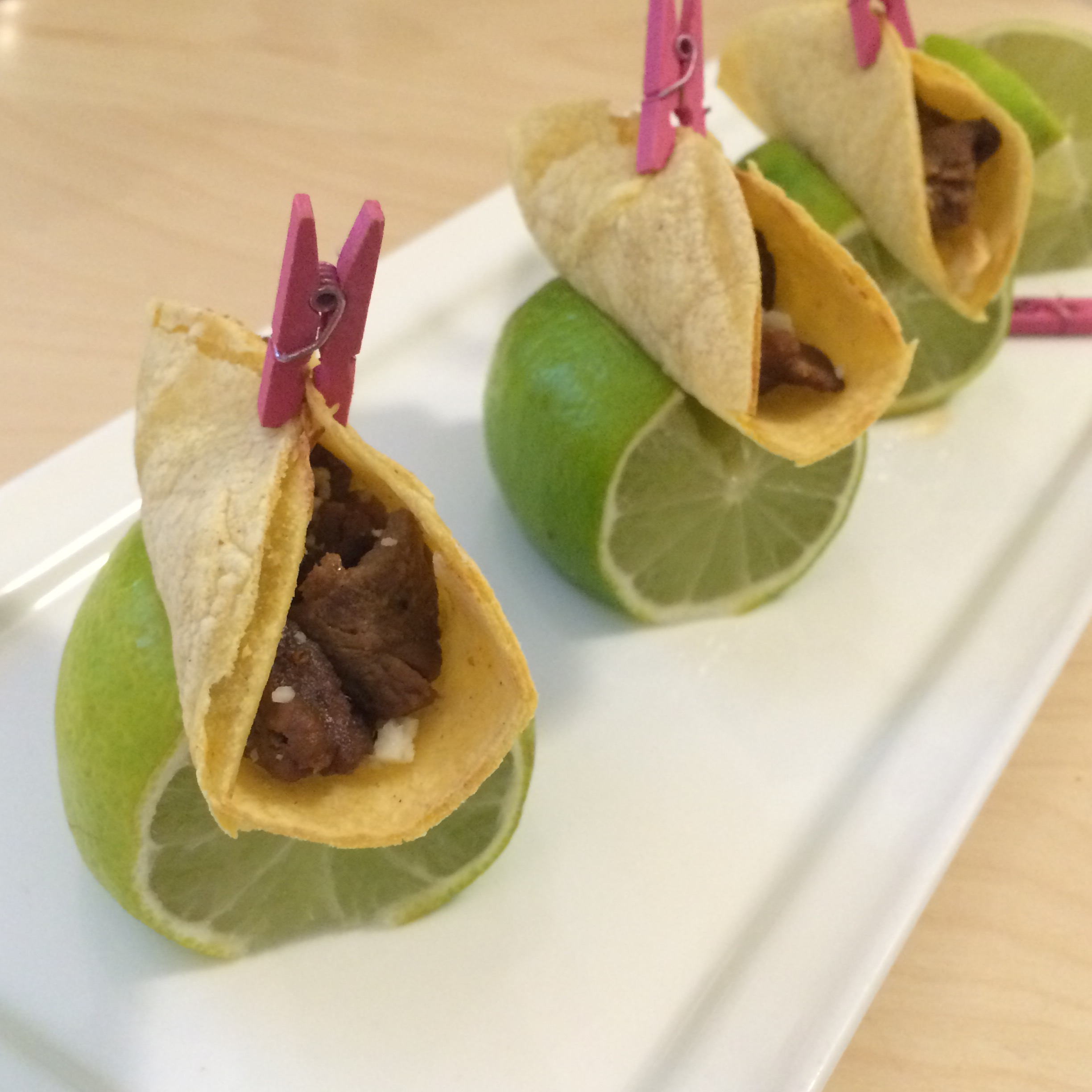 Mini taco appetizers from Lux Catering and Events - Utah's Premier caterer and event planner.