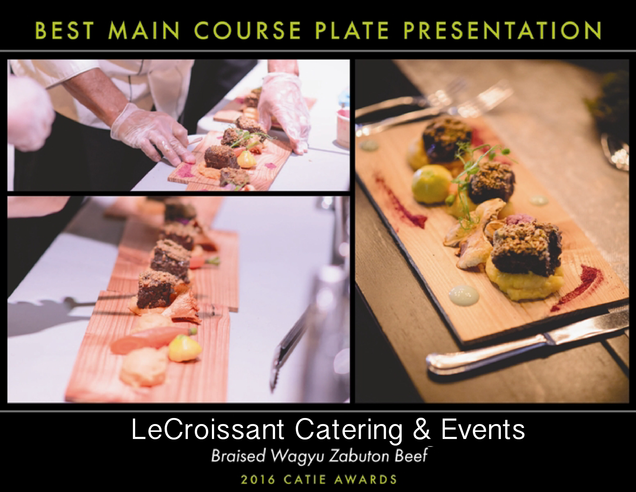 Lux Catering and Events, Utah's Premier award winning caterer, winner of the 2016 CATIE for Best main course plate presentation award winning caterer Lux Catering and Events is an award winning caterer! bestmaincourseCATIE
