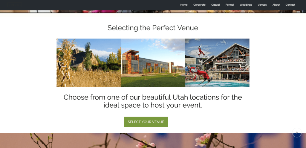 Let Lux Catering and Events help you find the perfect Utah event venues for your next wedding or party!  Utah event venues LeCroissant Catering & Events New Website - Utah Event Venues Screen Shot 2016 06 16 at 4