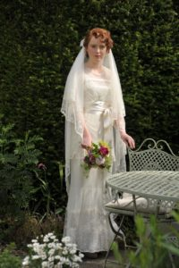 edwardian-ribbon-lace-wedding-dress wedding inspiration A Wedding Jouney: Gathering Wedding Inspiration for Easy Wedding Planning edwardian ribbon lace wedding dress