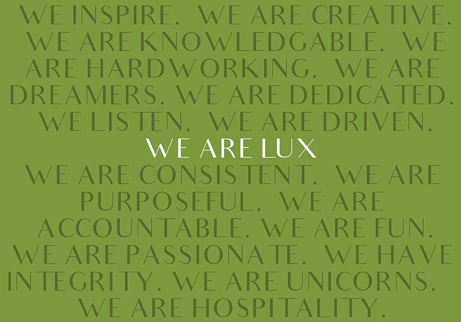LUX Catering & Events Values